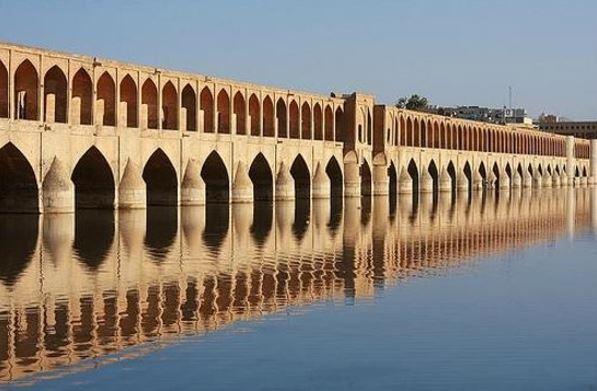 si-o-se pol bridge - isfahan travel guide map